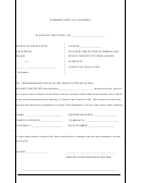 Ex-parte Application To Dismiss Nonfelony Traffic Citations And/or Warrants