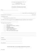 Voluntary Resignation Form