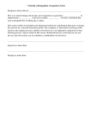 Voluntary Resignation Acceptance Form
