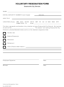 Voluntary Resignation Form