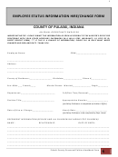 Employee Status Information Hire/change Form