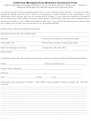 California Managed Care Members Grievance Form