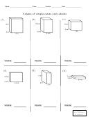 Math Activity Sheets