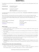 Basketball Level Assessment Evaluation Worksheet