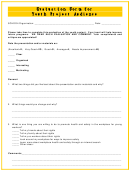 Evaluation Form For Youth Project Audience