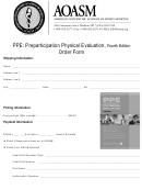 Preparticipation Physical Evaluation, Fourth Edition Order Form
