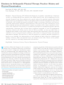 Dizziness In Orthopaedic Physical Therapy Practice: History And Physical Examination
