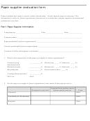 Paper Supplier Evaluation Form