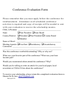 Conference Evaluation Form