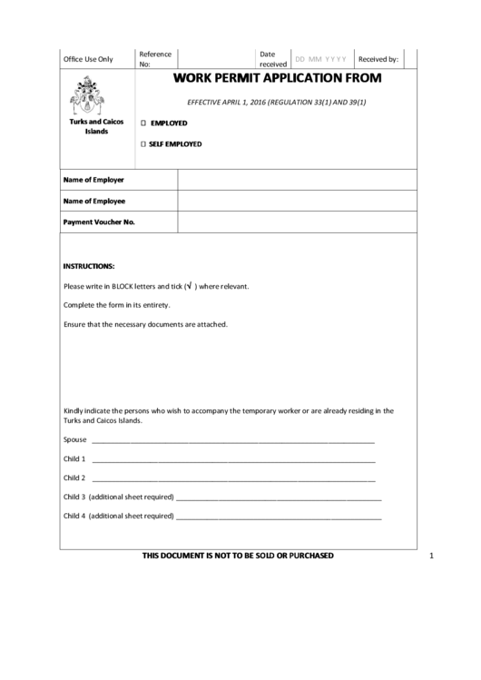 page_1_thumb_big Open Work Permit Application Form on form maryland, tanzania cover letter, singapore sample consent form for, sa online, form for sample, form online virginia, michigan minor,