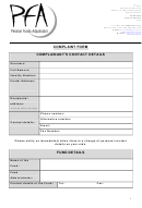 Pfa Complaint Form