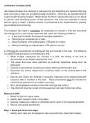 Job Hazard Analysis (jha)