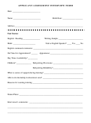 Applicant Assessment Interview Form