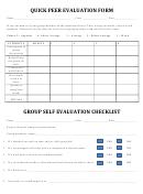 Quick Peer Evaluation Form
