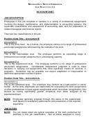 Michigan Civil Service Commission Job Specification Accountant
