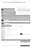 Application For A Patent And Acknowledgement Of Receipt