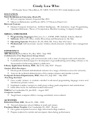 Computer Science Sample Resume Template