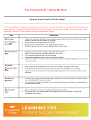 The Cornell Note Taking Method