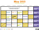 May Workout Calendar Template