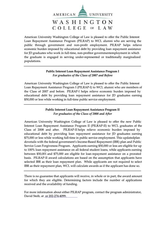 public interest loan repayment assistance program i printable pdf download. Black Bedroom Furniture Sets. Home Design Ideas