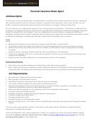 Personal Insurance Sales Agent Job Description Template