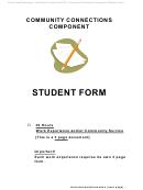 Student Volunteer Hours Form