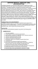 Certified Medical Assistant (cma) Job Description