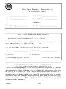 Short Term Disability Request Form