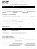 Short Term Disability Claim Form