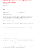 Musc Student Parking Temporary Disability Form