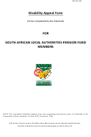 Disability Appeal Form For South African Local Authorities Pension Fund Members