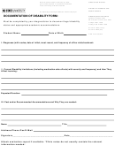 Documentation Of Disability Form