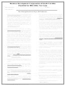 Business Development Corporation Of South Carolina Checklist For Loan