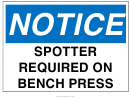 Spotter Required Sign Template