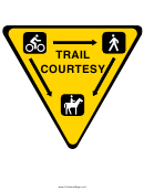Trail Courtesy Sign Template