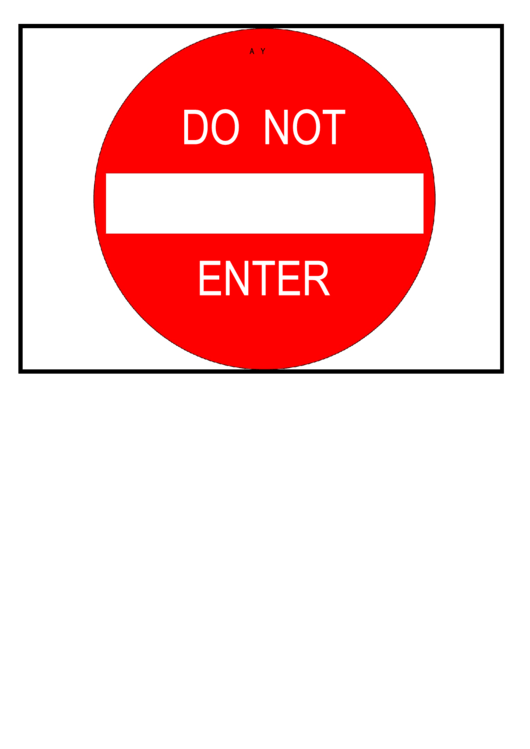 picture relating to Do Not Enter Sign Printable identified as Do Not Input Signal Template printable pdf obtain