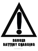 Danger Battery Charging Sign Template