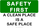 Safety First Sign Template