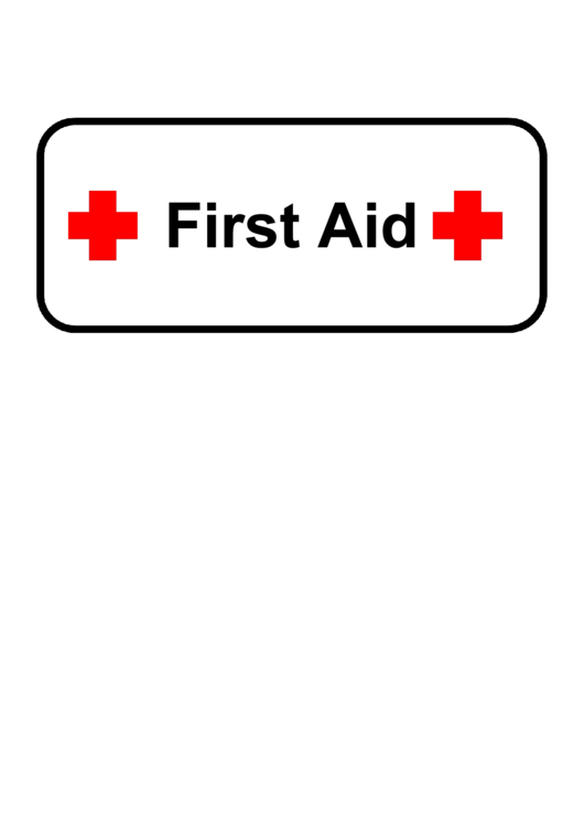 image regarding Printable First Aid Sign called Very first Assistance Signal Template printable pdf down load