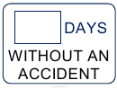 Days Without An Accident Sign Template