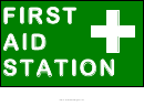 First Aid Station Sign Template
