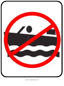 No Boating Sign Template