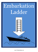 Embarkation Ladder Sign Template