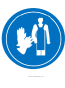 Wear Apron And Gloves Sign Template