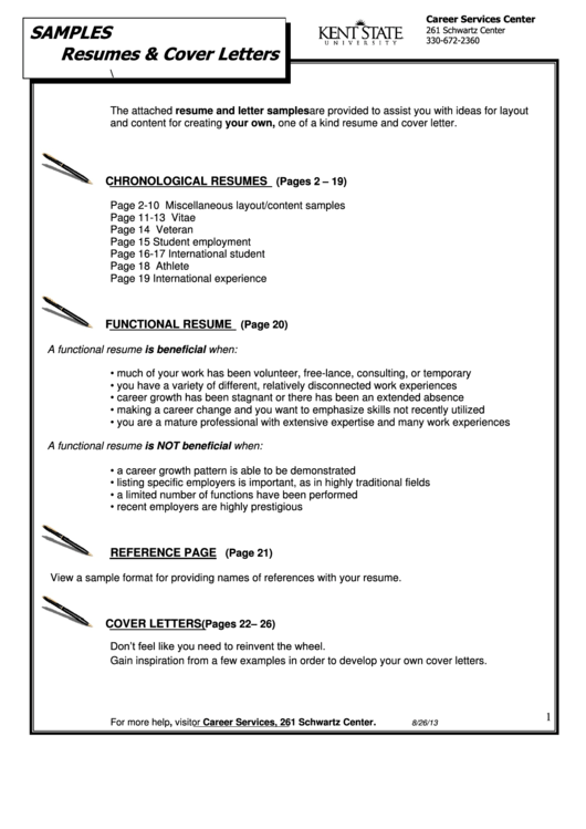 Samples Resumes & Cover Letters Chronological Resumes Printable pdf