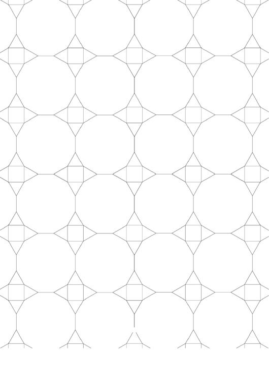 3-12-12 3-4-3-12 Tessellation Paper Template - Small Printable pdf