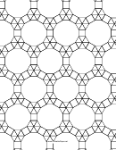3-3-3-3-3 3-3-4-12 Tessellation Paper Template - Small