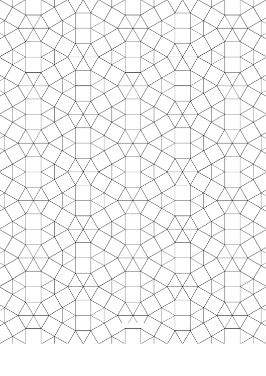 3-3-3-3-3-3 3-3-4-3-4 Tessellation Paper Template - Small Printable pdf
