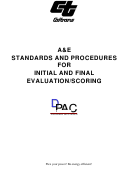 A&e Standards And Procedures For Initial And Final Evaluation/scoring