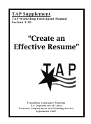 Create An Effective Resume